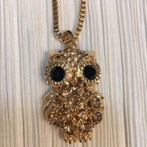 New owl long necklace